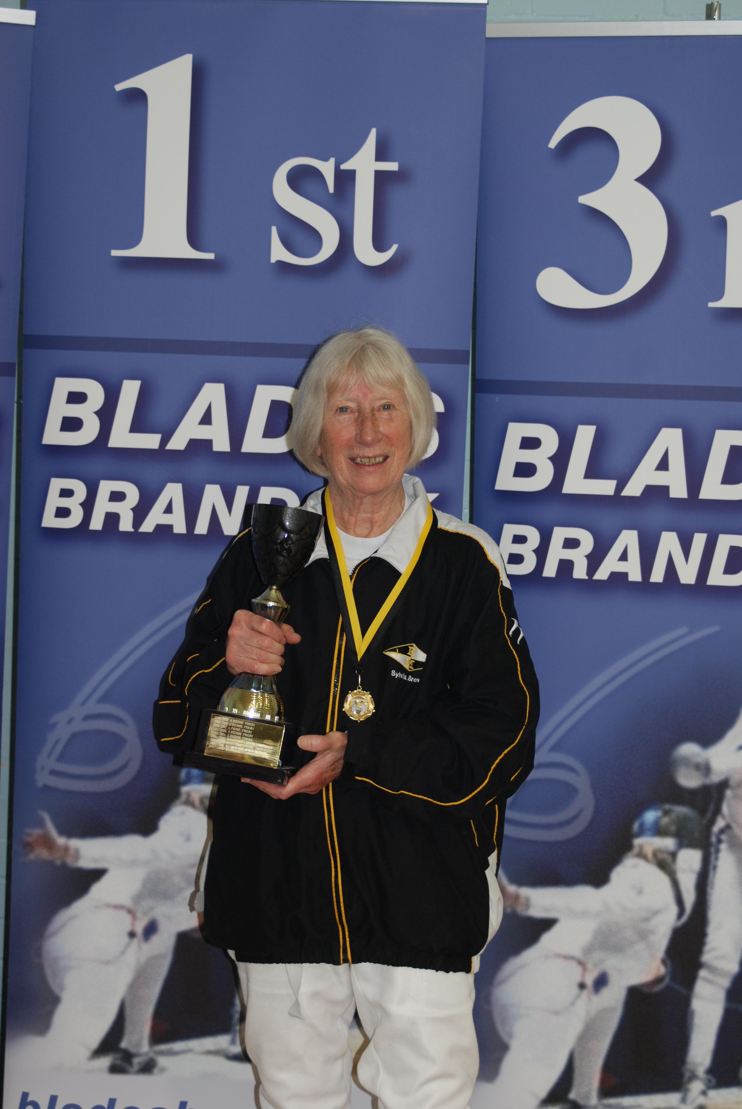 East Midlands Region Women's Epee winner - Sylvia Brown