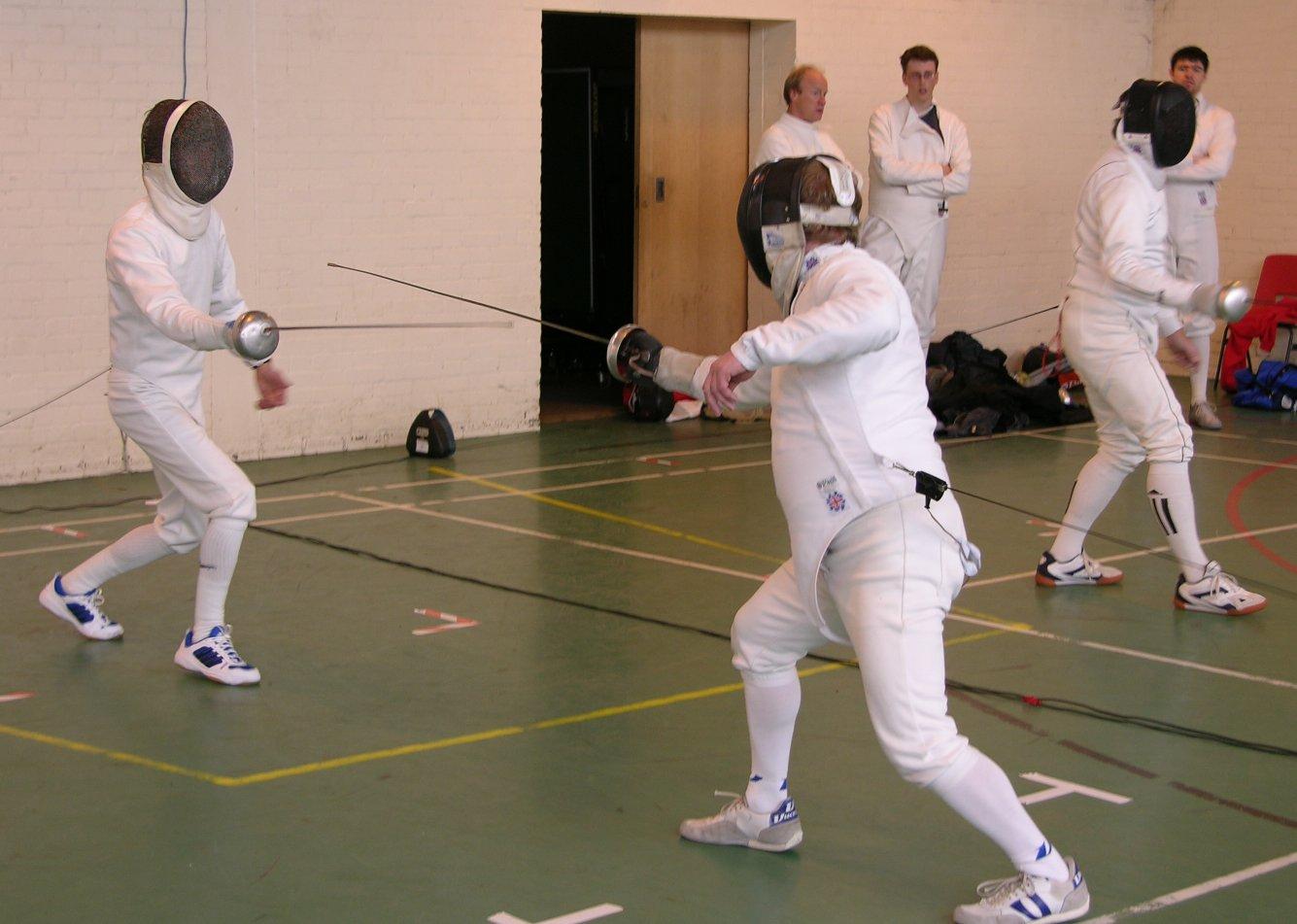 Nigel and Richard Fencing