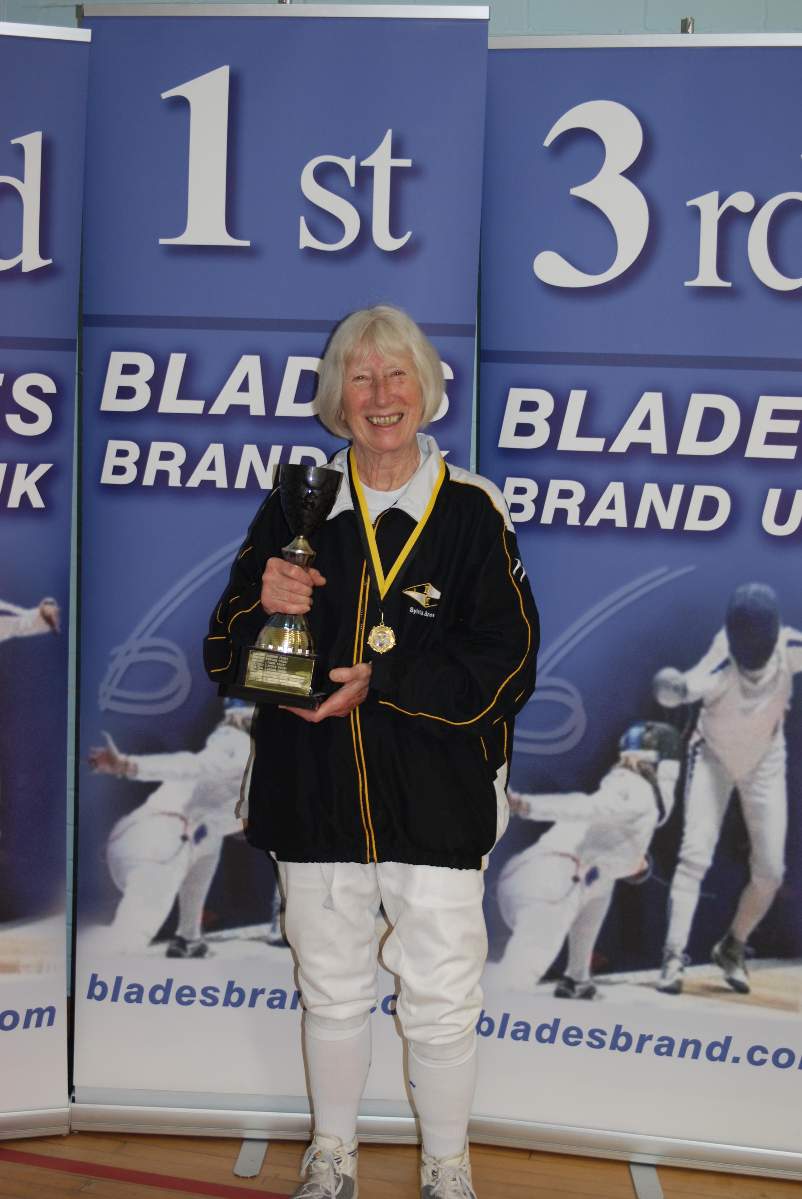 Sylvia Winning Gold.