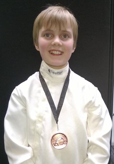 Fin with his Bronze medal