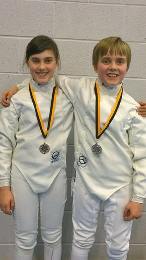 Silver Medalists Niamh and Fin