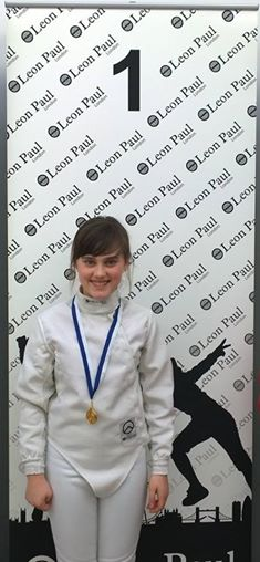 Niamh with Gold at Halifax